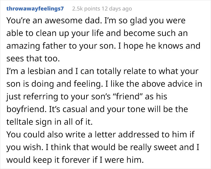 """Dad Knows His Son And His Male """"Friend"""" Are Secretly Dating, Asks People How To Tell Him It's Ok, Posts A Wholesome Update"""