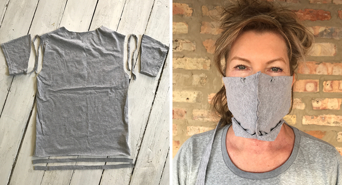 Here's A Simple Guide On How To Make A Face Mask From Old T-Shirts Without A Sewing Machine