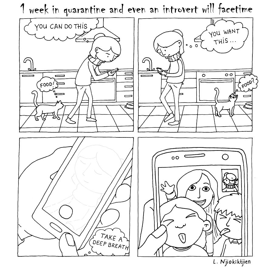 Here Are My 10 New Comics About My Introverted Life With My Extroverted Wife During Lockdown