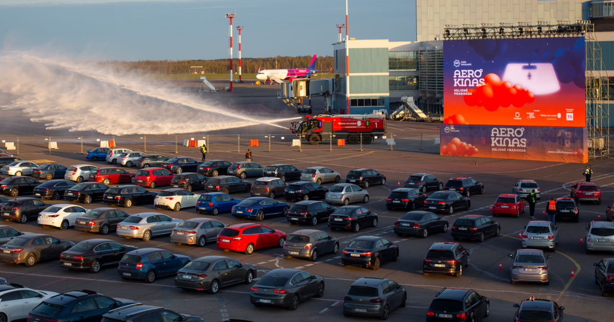 Aerocinema: A Drive-In Movie Theatre Lands At Vilnius Airport