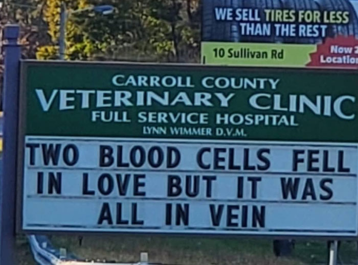 Funny-Carroll-County-Veterinary-Clinic-Signs