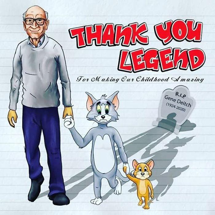Gene-Deitch-Tom-And-Jerry-Popeye-Illustrator-Tribute