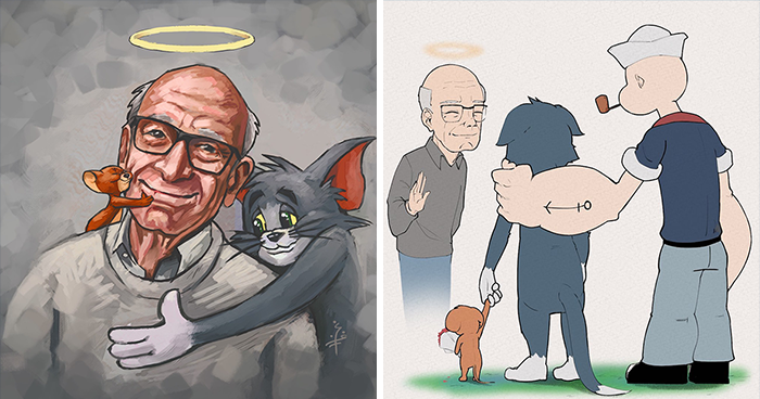 25 Artists Pay Respect To The Late Gene Deitch, The Illustrator Of Tom & Jerry And Popeye
