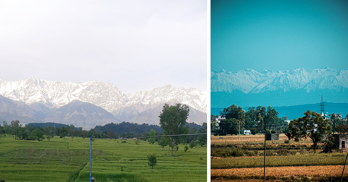 The Himalayas Are Visible From Parts Of India From Nearly 125 Miles Away For The First Time In 30 Years, Locals Say - bored panda