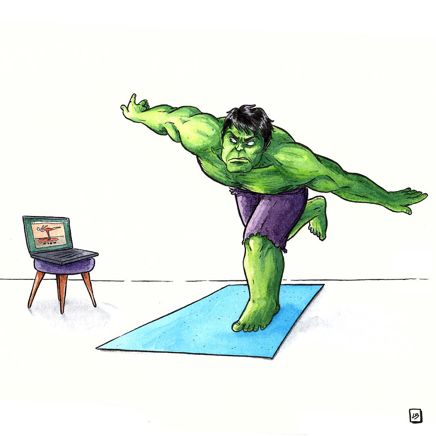Try Yoga Like Hulk
