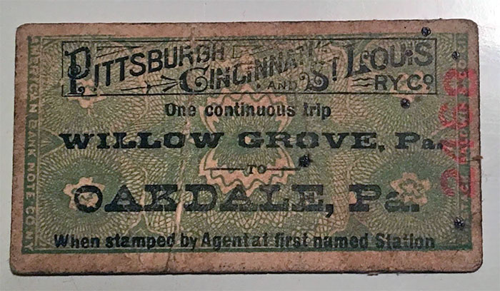 This Railway Ticket We Found In Our Barn. The Stamp On The Back Says Aug 18, 1890
