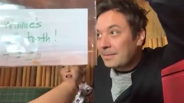 Jimmy Fallon's Daughter Loses A Tooth And Excitedly Crashes Her Dad's Interview