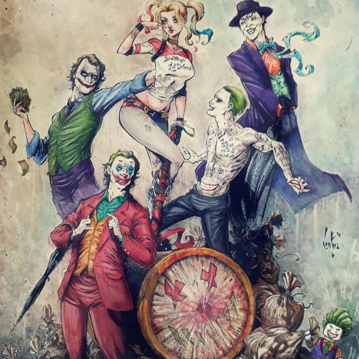 Harley Quinn & The Jokers
