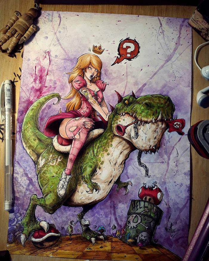 Princess Peach & Yoshi