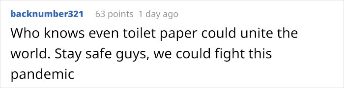 """People From 50 Cities Across 30 Countries """"Passed"""" Toilet Paper To Each Other"""
