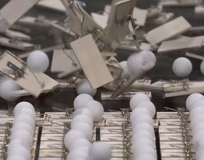 This Ad Explains The Need To Flatten The Curve With Ping-Pong Balls And Mousetraps