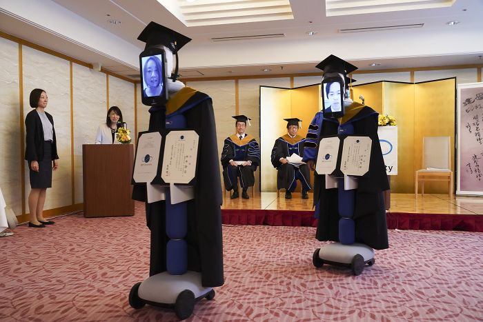 Japanese University Found A Genius Solution For Their Graduation Ceremony During The Coronavirus Pandemic