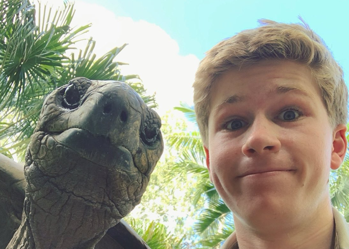 Robert Irwin Shares Photo Of His Self-Isolation Buddy, A Tortoise Named Igloo