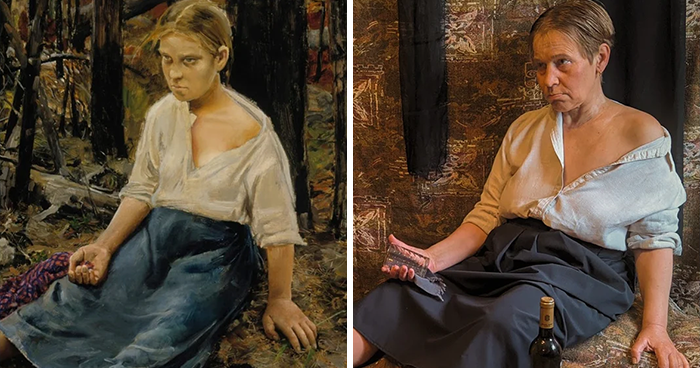 This Russian Facebook Group Is Dedicated To Recreating Famous Art Pieces While Isolating And Here Are The 30 Best Works
