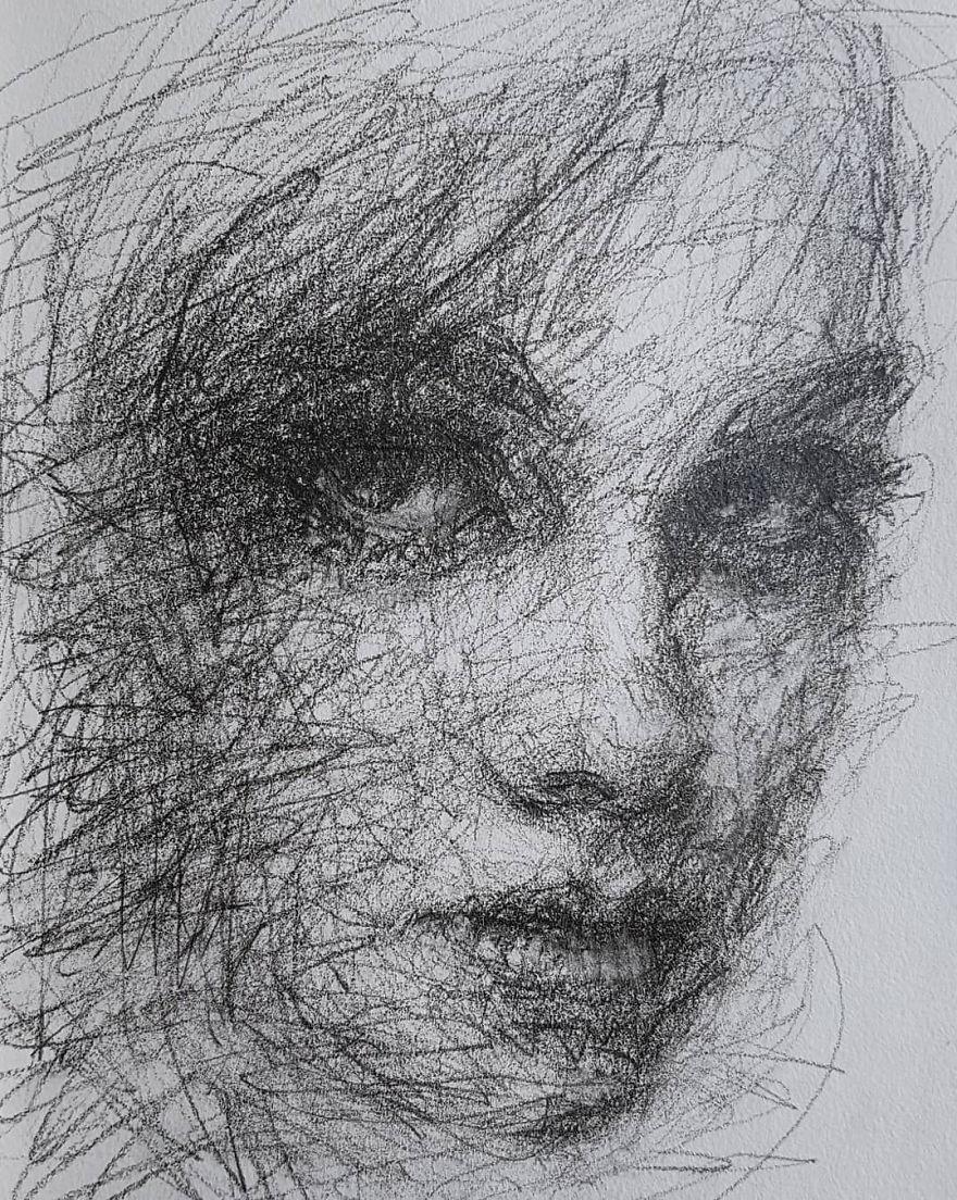 Self-Taught Artist Makes Amazing Female Portraits Based On Doodles