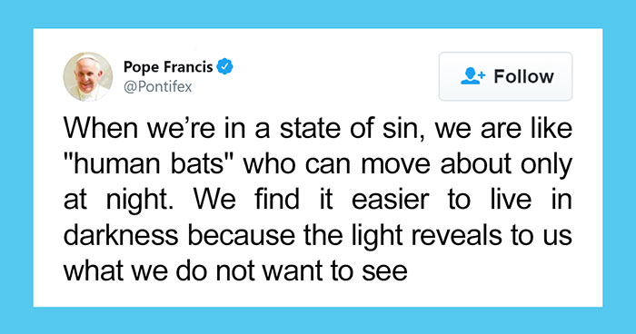 """The Pope """"Insults"""" Bats On Twitter, Gets Schooled By A Bat Expert"""