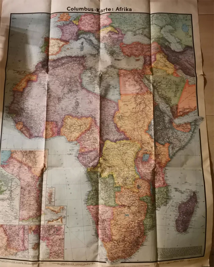 This Map From 1941 I Found Cleaning My Grandpas Room