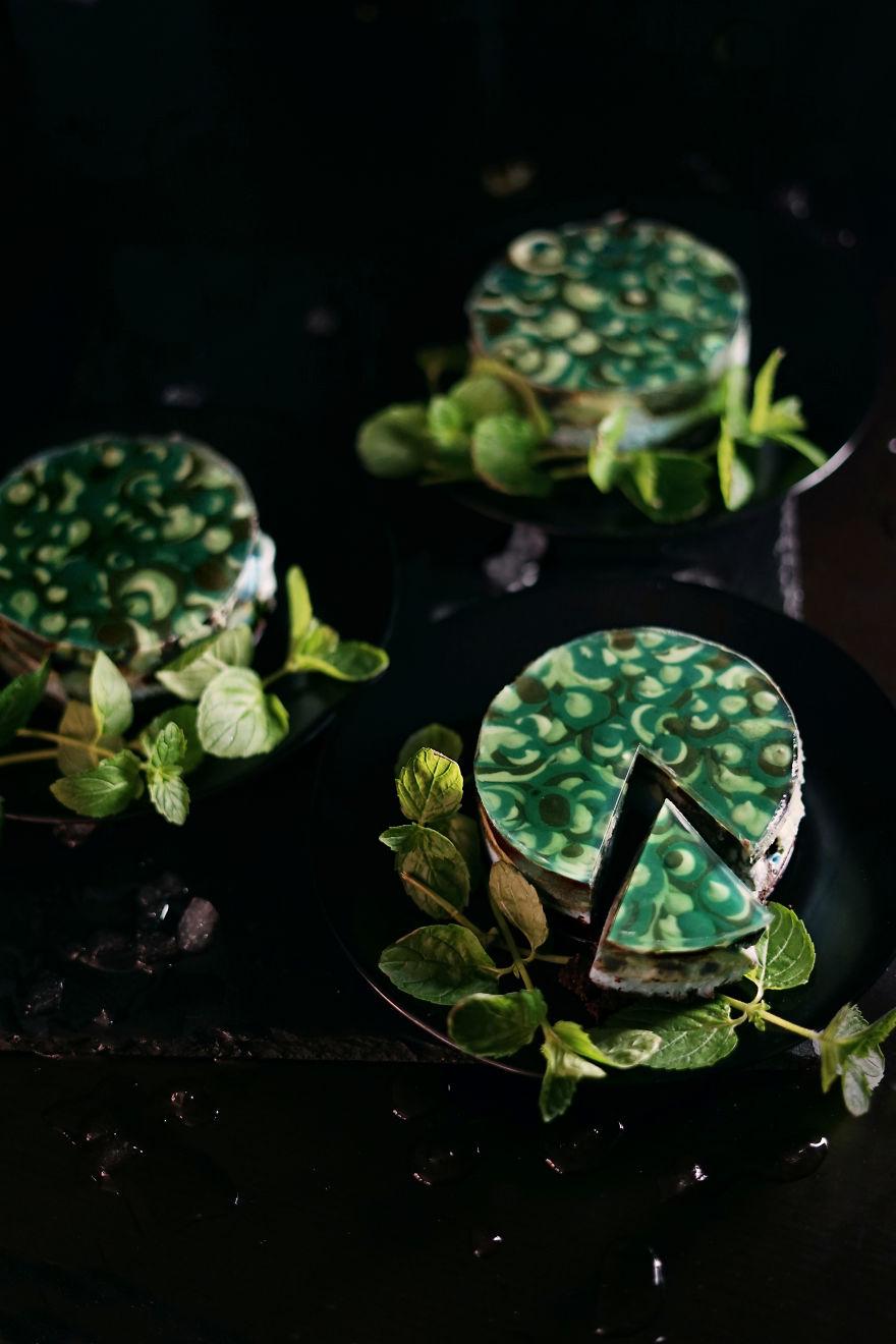 Malachite Cheesecakes