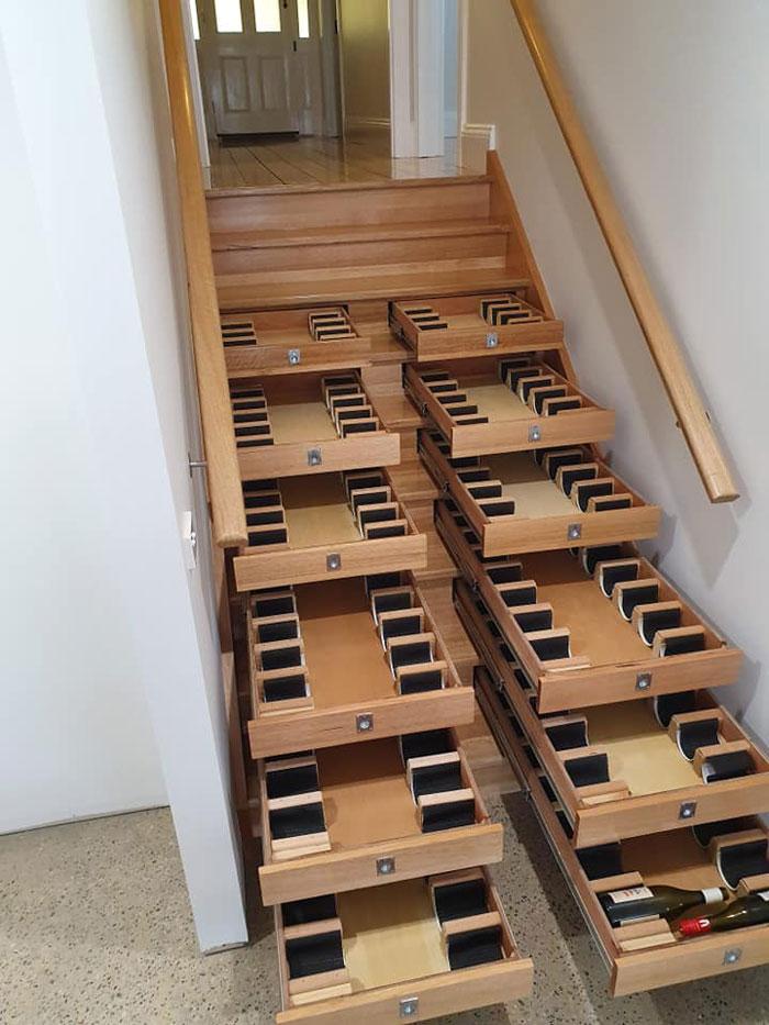 Pretvorio stubište u vinsko skladište za 10 dana tijekom karantene