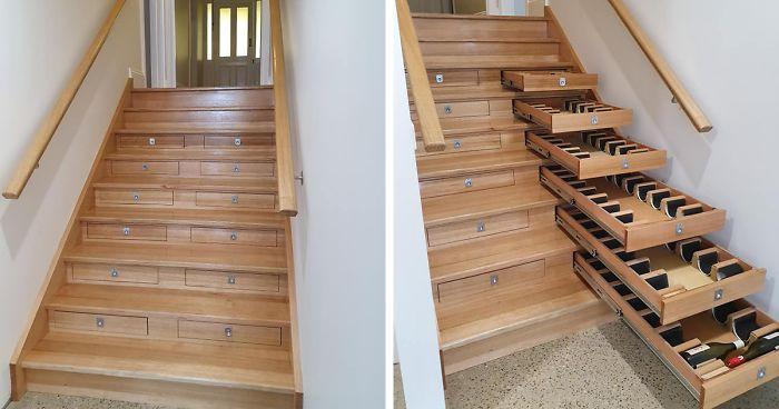 Staircase Into Wine Cellar