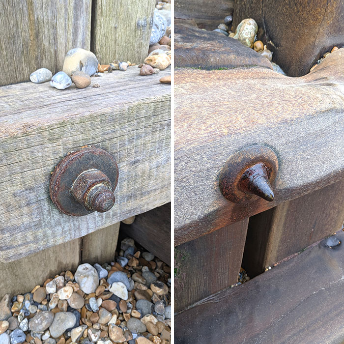 A Nut And Bolt: Far From And Close To The Sea