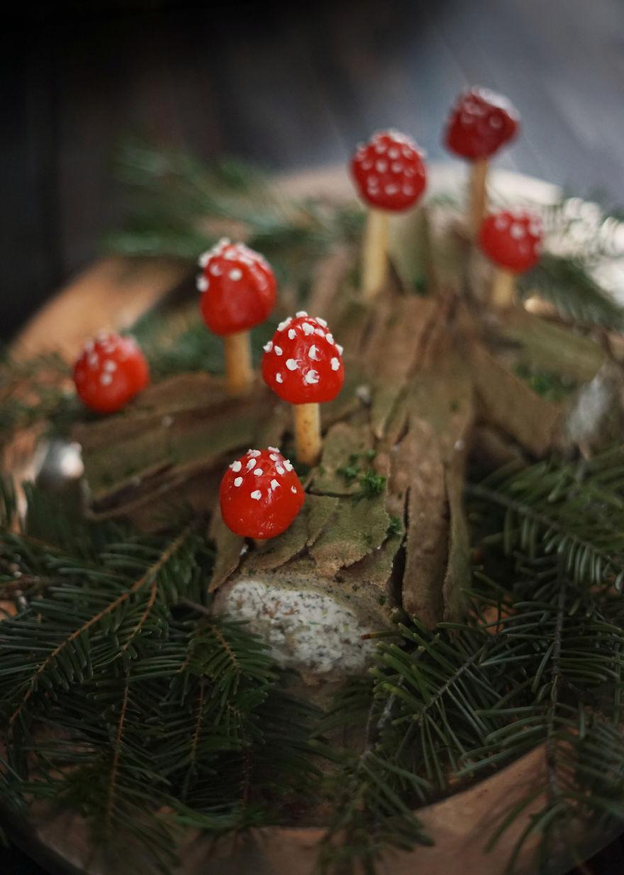 Savory Mushroom Log