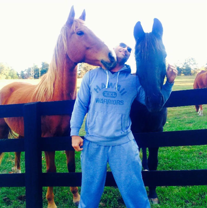 The Time He Let Horses Snuggle Up To Him