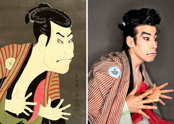 Sharaku Kabuki Portrait