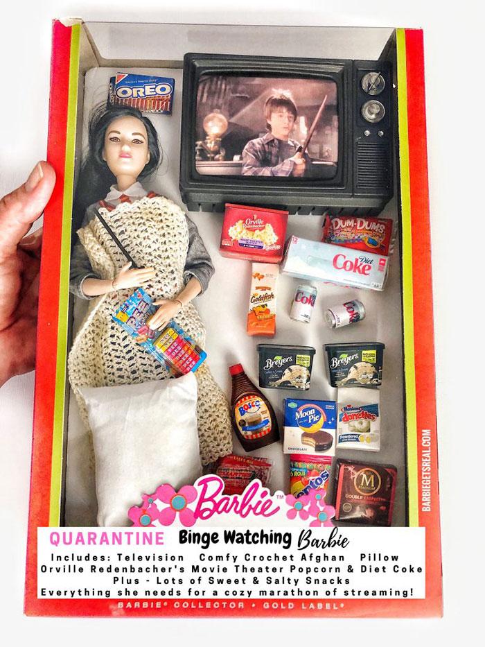 Quarantine Binge Watching Barbie