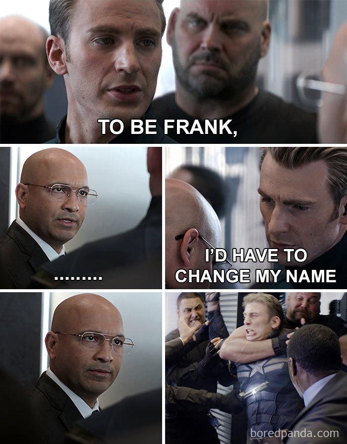To Be Frank Corny Dad Jokes As Captain America Elevator Meme
