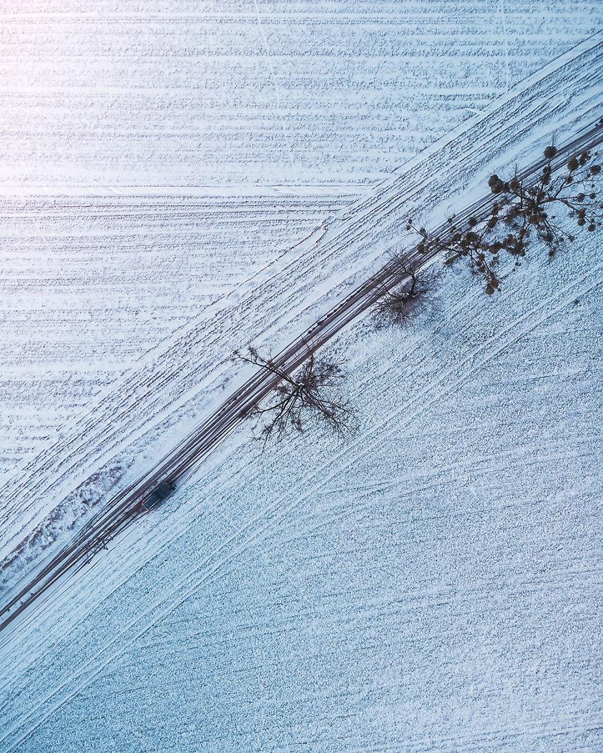 Snow On A Field (Poland)