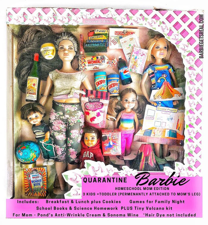 Quarantine Barbie – Homeschool Mom Edition