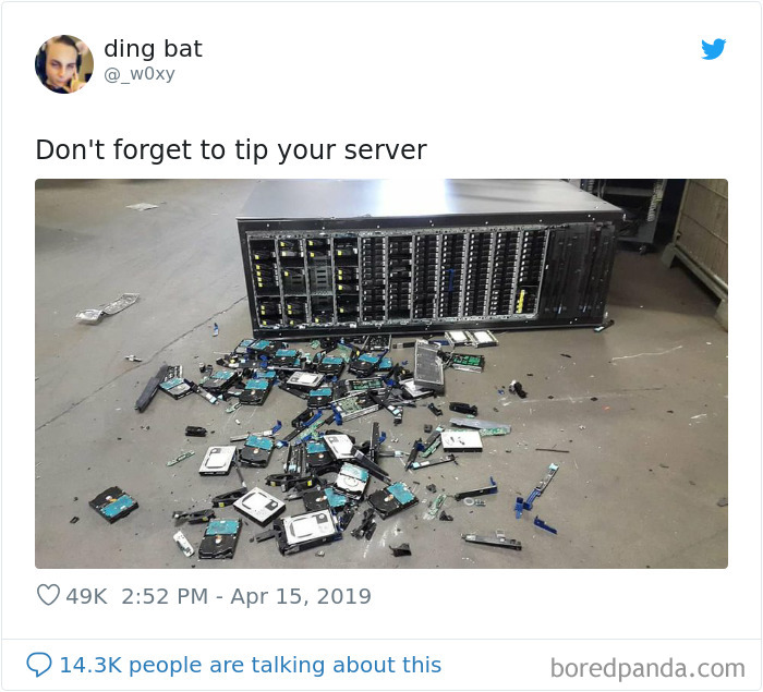 Don't Forget To Tip Your Server