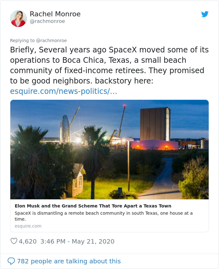 'It's Infuriating' – Woman Shares What It's Like To Be Elon Musk's SpaceX Neighbor