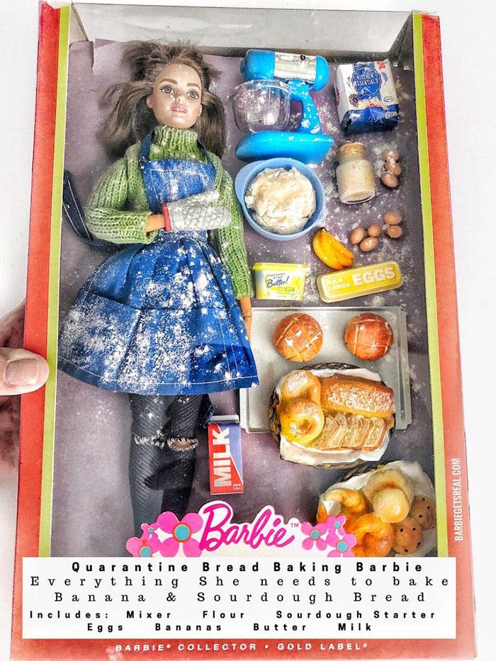 Quarantine Bread Baking Barbie