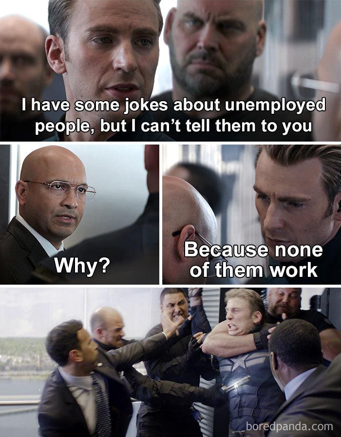 Captain America Elevator Fight Scene Meme