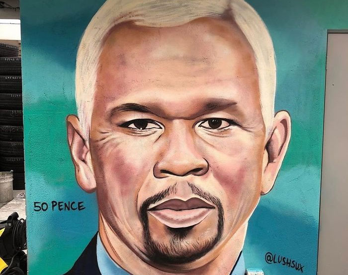This Street Artist Can't Stop Trolling 50 Cent And The Rapper Is Getting Increasingly 'Irritated' By It
