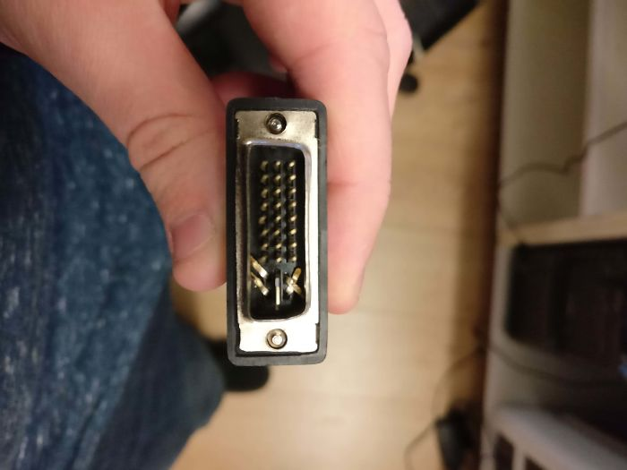 """It Didn't Plug In, So I Bent The Pins To Make It Fit"""