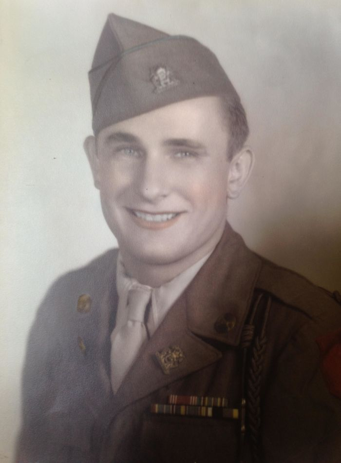 My Grandfather's Ww2 Photograph, He Was 18 Years Old. Still Alive And Sharp As A Tack At 96.