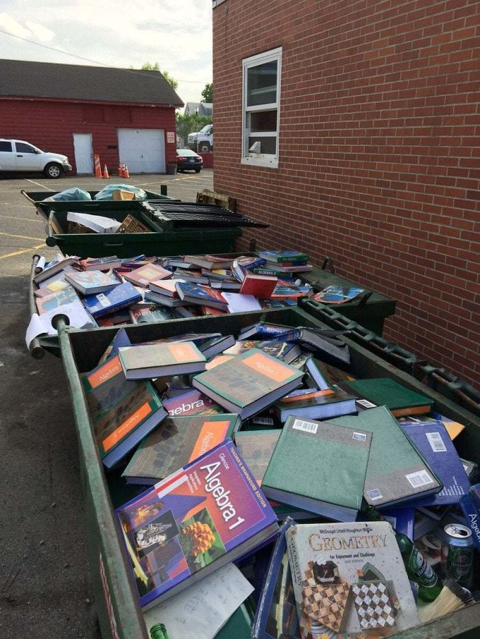 Found In A Dumpster Behind NYC High School. Donating Books Is So Over Rated