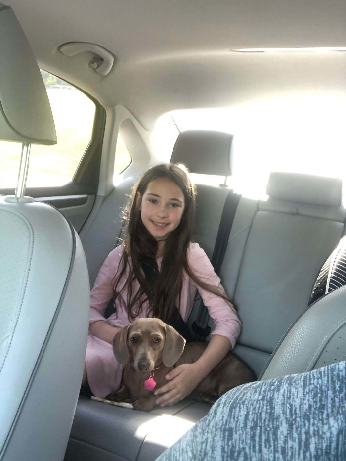 My Daughter Has Been Asking Every Christmas And Birthday For 5 Years For Her Dream Dog. This Week We Adopted Her New Best Friend. So Far They're Inseparable
