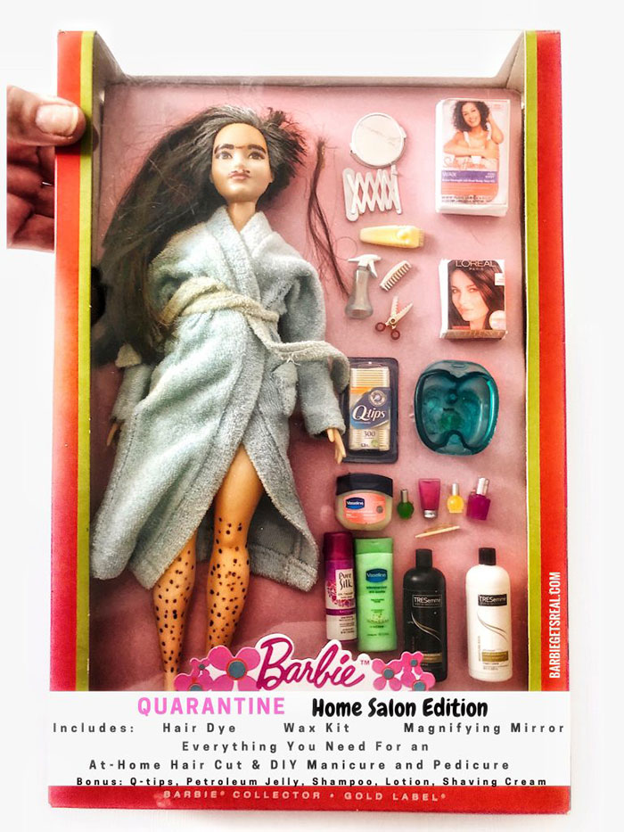 Quarantine Barbie – Home Salon Edition