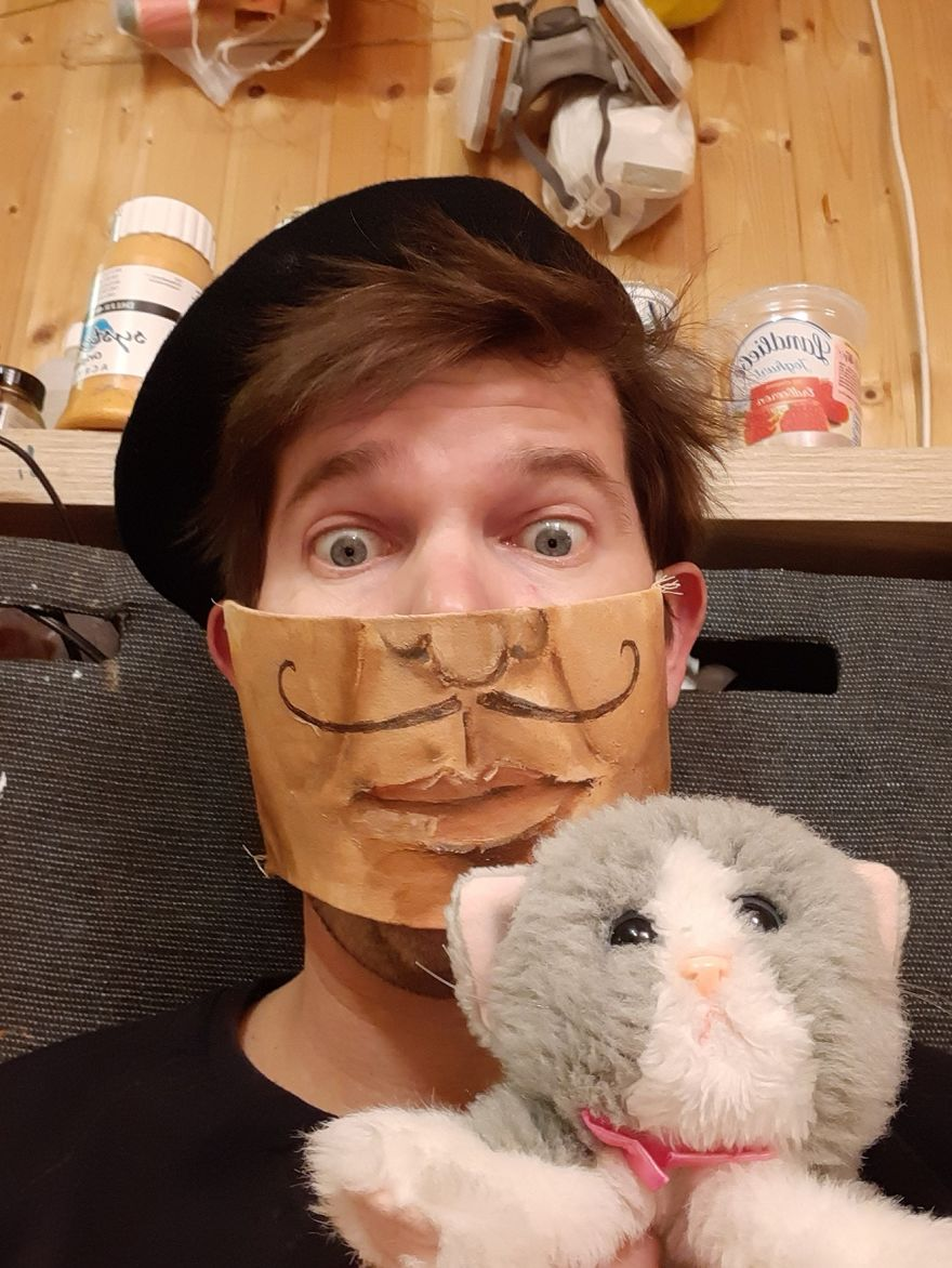 In Order Not To Let Creativity Die, The Artist Makes Fun Masks During Quarantine