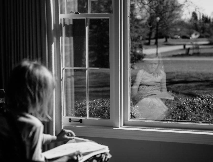 A Girl Studying At Home During COVID-19