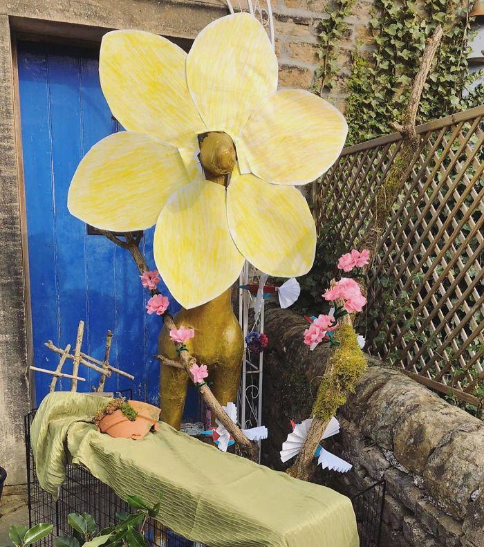 Gloria Has Transformed Into An Easter Garden!