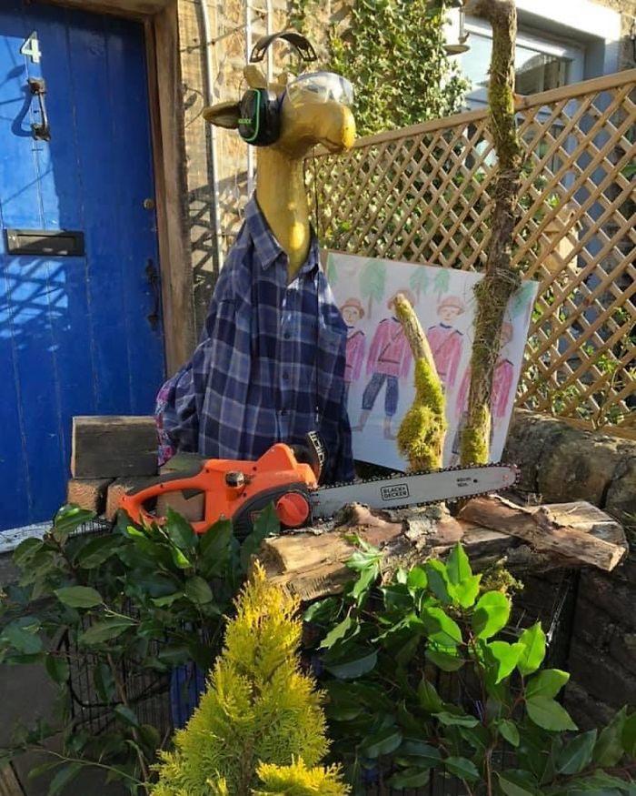 Here Is Gloria As A Lumberjack