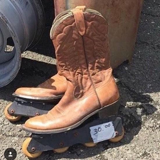 Cowboy Roller Skates