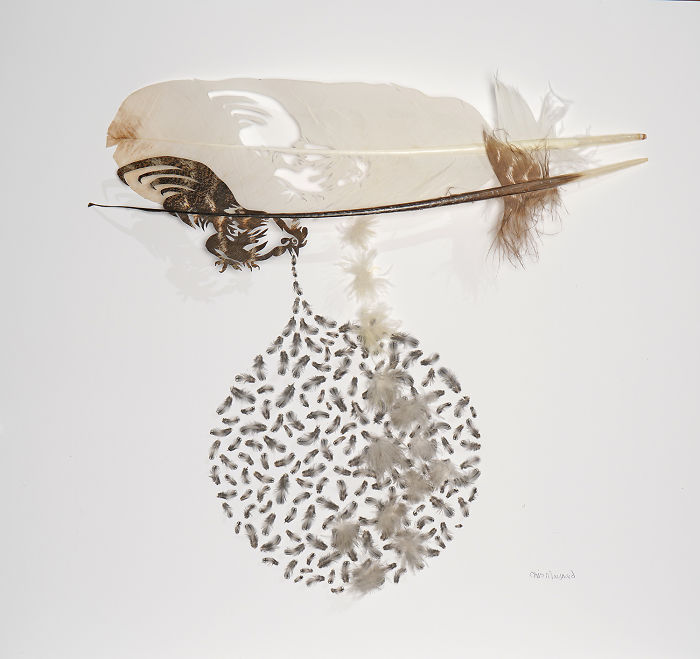 Chris Maynard At Featherfolio Returns With More Feather Carvings