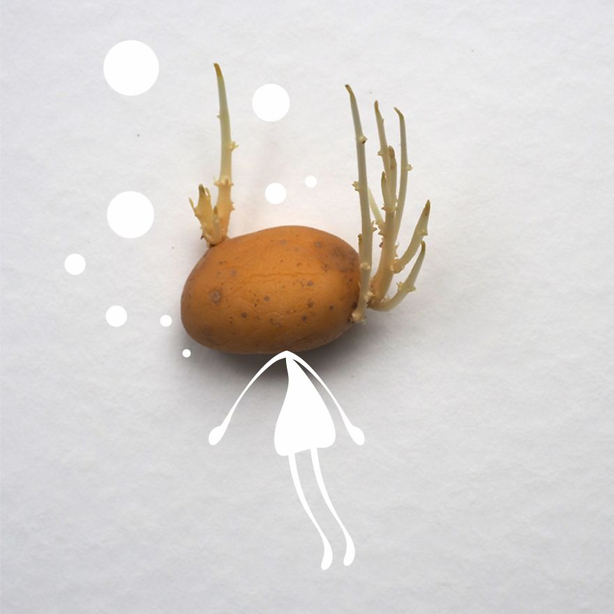 Be A Diving Into A Bathtub Potato