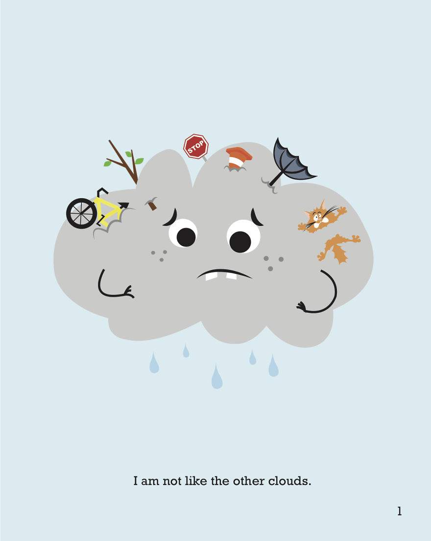 I Wrote And Illustrated A Book About A Cloud Without A Silver Lining
